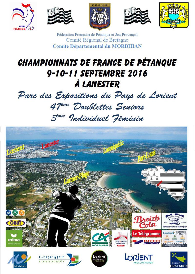 Petanque : championnat de france à Lanester